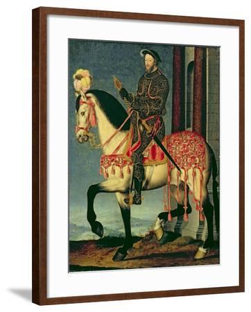 Equestrian Portrait of Francis I of France-Francois Clouet-Framed Giclee Print