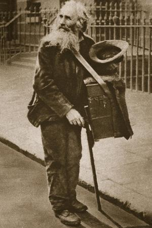 A Street Musician--Stretched Canvas Print