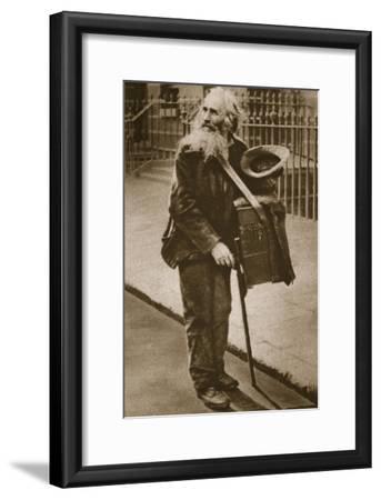 A Street Musician--Framed Giclee Print