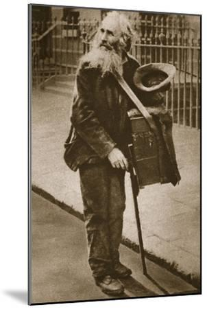 A Street Musician--Mounted Giclee Print