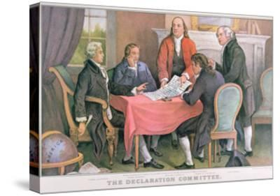 The Declaration Committee, Published by Currier and Ives, New York--Stretched Canvas Print
