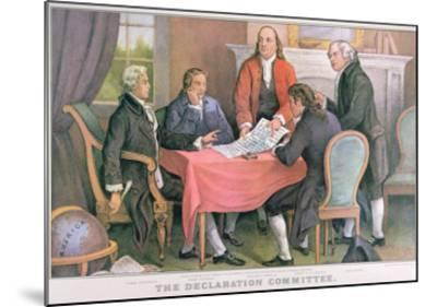 The Declaration Committee, Published by Currier and Ives, New York--Mounted Giclee Print
