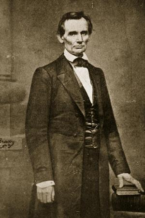 Abraham Lincoln, May 1860-Mathew Brady-Stretched Canvas Print