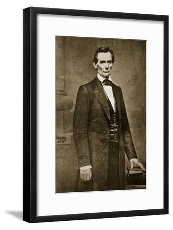 Abraham Lincoln, May 1860-Mathew Brady-Framed Giclee Print