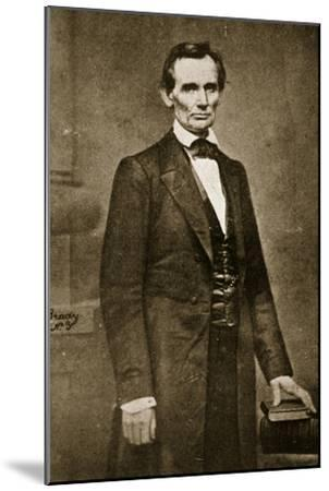 Abraham Lincoln, May 1860-Mathew Brady-Mounted Giclee Print