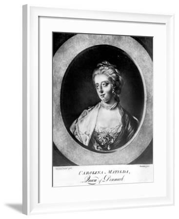 Caroline Matilda, Queen of Denmark and Norway, Engraved by Brookshaw-Francis Cotes-Framed Giclee Print
