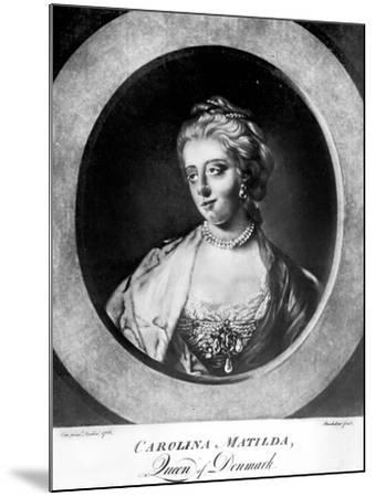 Caroline Matilda, Queen of Denmark and Norway, Engraved by Brookshaw-Francis Cotes-Mounted Giclee Print