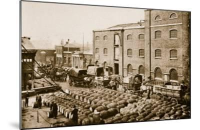 Barrels of Molasses in the West India Docks-English Photographer-Mounted Giclee Print