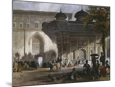 Imperial Gate of Topkapi Palace and Fountain of Sultan Ahmed III, Istanbul, 1839-Thomas Allom-Mounted Giclee Print