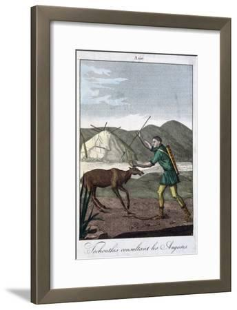 A Chukchi Shaman Consulting the Oracle, 1811--Framed Giclee Print