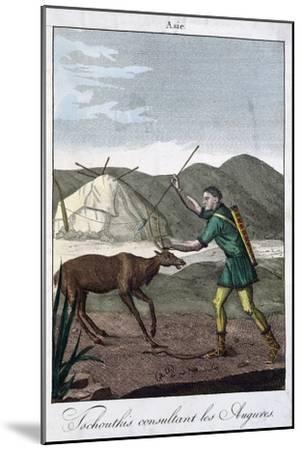 A Chukchi Shaman Consulting the Oracle, 1811--Mounted Giclee Print