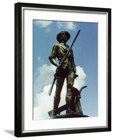 Minute Man Statue, Old North Bridge, 1874-Daniel Chester French-Framed Giclee Print
