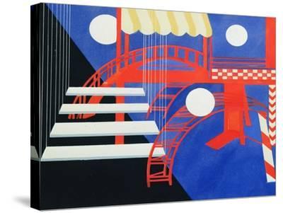 Stage Design Revue for the Edition Decors De Theatre, 1927-Alexandra Exter-Stretched Canvas Print