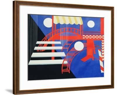 Stage Design Revue for the Edition Decors De Theatre, 1927-Alexandra Exter-Framed Giclee Print