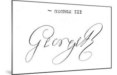 Signature of King George III--Mounted Giclee Print