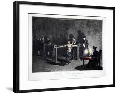 Third Degree of Torture of Inquisition, engraved by L.C. Stadler--Framed Giclee Print