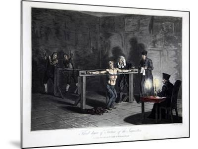 Third Degree of Torture of Inquisition, engraved by L.C. Stadler--Mounted Giclee Print