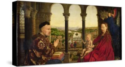 The Rolin Madonna-Jan van Eyck-Stretched Canvas Print