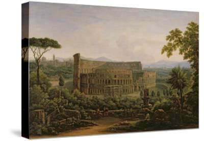 View of the Colosseum from the Palatine Hill, Rome, 1816-Fedor Mikhailovich Matveev-Stretched Canvas Print