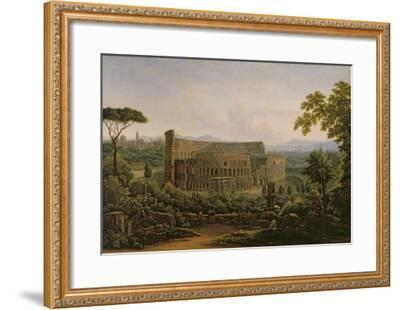 View of the Colosseum from the Palatine Hill, Rome, 1816-Fedor Mikhailovich Matveev-Framed Giclee Print