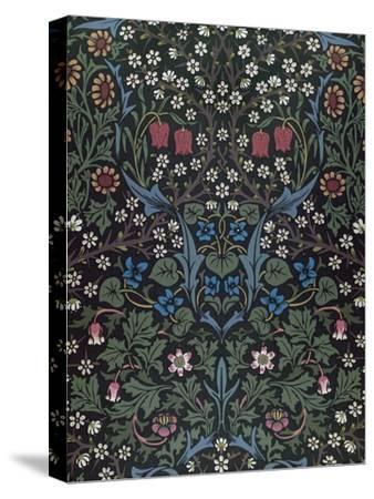 Blackthorn, Wallpaper Design, 1892-William Morris-Stretched Canvas Print