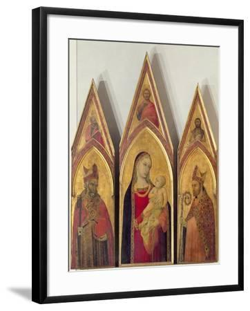 Madonna and Child with SS. Nicholas and Proculus, 1332-Ambrogio Lorenzetti-Framed Giclee Print