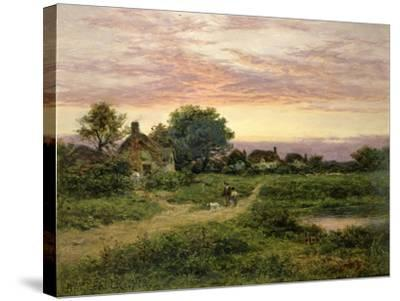 Worcestershire Cottages, 1912-Benjamin William Leader-Stretched Canvas Print