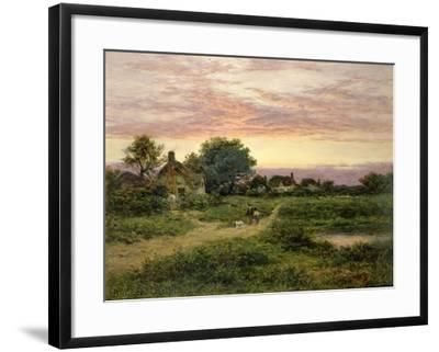 Worcestershire Cottages, 1912-Benjamin William Leader-Framed Giclee Print
