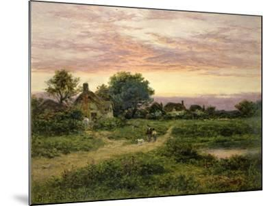 Worcestershire Cottages, 1912-Benjamin William Leader-Mounted Giclee Print
