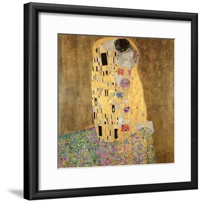 The Kiss, 1907-08-Gustav Klimt-Framed Giclee Print