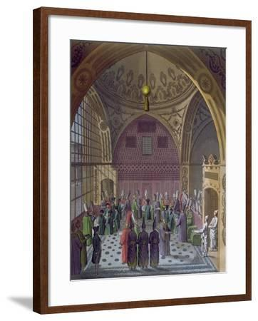 Reception of the Western Ambassadors by the Grand Vizier of the Sultan in Constantinople, c.1820--Framed Giclee Print