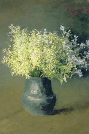 Wild Lilacs and Forget-Me-Nots, 1889-Isaak Ilyich Levitan-Stretched Canvas Print