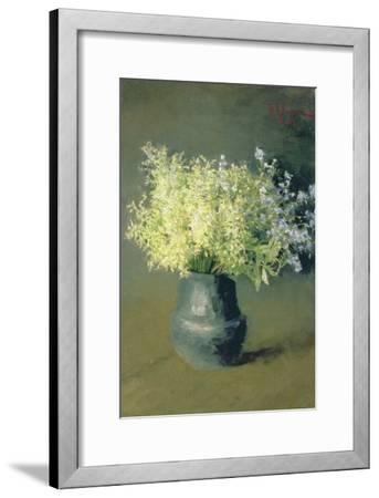 Wild Lilacs and Forget-Me-Nots, 1889-Isaak Ilyich Levitan-Framed Giclee Print