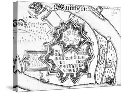 Plan of Mannheim, Germany 1690--Stretched Canvas Print