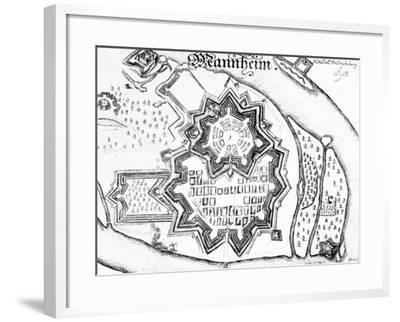 Plan of Mannheim, Germany 1690--Framed Giclee Print