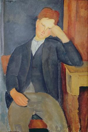 The Young Apprentice, c.1918-19-Amedeo Modigliani-Stretched Canvas Print
