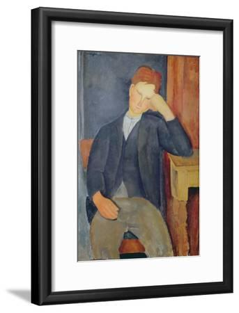 The Young Apprentice, c.1918-19-Amedeo Modigliani-Framed Giclee Print