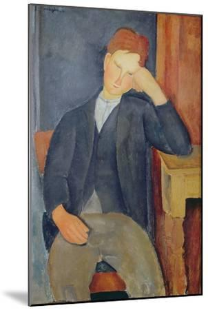 The Young Apprentice, c.1918-19-Amedeo Modigliani-Mounted Giclee Print
