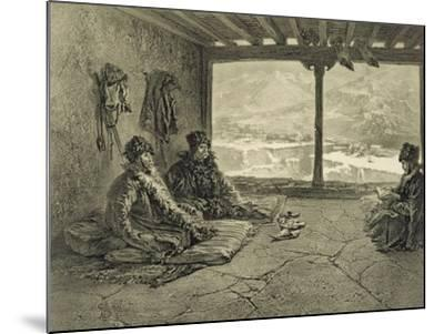 Sharia Lecture at Khosrakh, Dagestan, engraved by Adolphe Mouilleron-Grigori Grigorevich Gagarin-Mounted Giclee Print