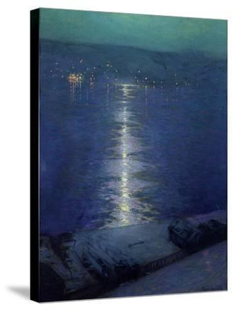 Moonlight on the River, 1919-Lowell Birge Harrison-Stretched Canvas Print