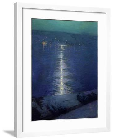 Moonlight on the River, 1919-Lowell Birge Harrison-Framed Giclee Print