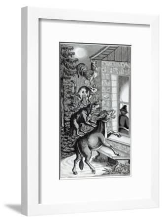 Four Animals Shouting at Window, for 'The Musicians of Bremen Town', Tale by the Brothers Grimm--Framed Giclee Print