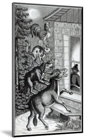 Four Animals Shouting at Window, for 'The Musicians of Bremen Town', Tale by the Brothers Grimm--Mounted Giclee Print
