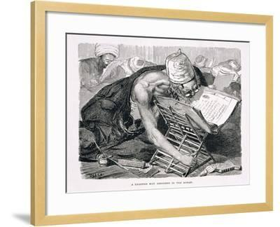 A Learned Man Absorbed in the Koran, 19th century-Karl Wilhelm Gentz-Framed Giclee Print