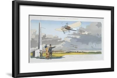 Aviation Meeting at Champagne, published by Mabileau, Paris, 1910-Marguerite Montaut-Framed Giclee Print