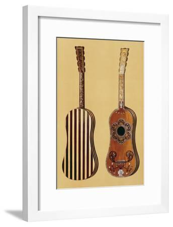 Guitar Inlaid with Mother-of-pearl, from 'Musical Instruments'-Alfred James Hipkins-Framed Giclee Print