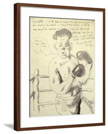 A Collection of Eight Illustrated Letters to his Friend Duncan Tate-Sir William Orpen-Framed Giclee Print
