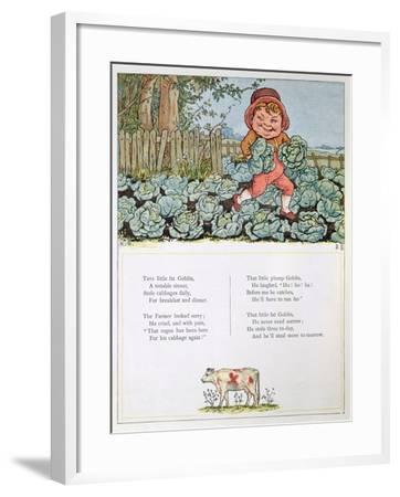 A Goblin Stealing Cabbages, Illustration for a poem from 'Under the Window'-Kate Greenaway-Framed Giclee Print