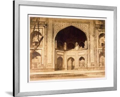 Outside the Taj Mahal, 1858-John Murray-Framed Giclee Print