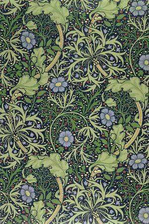 Seaweed Wallpaper Design, printed by John Henry Dearle-William Morris-Stretched Canvas Print